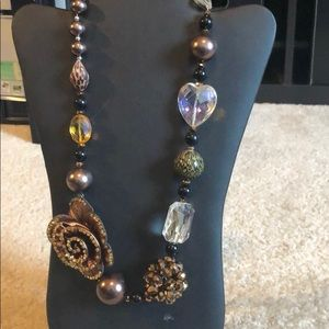 Jewelry - Large stones and beaded necklace.